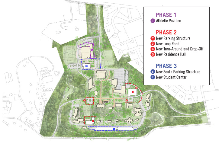 Cabrini College Campus Map.Campus Master Plan