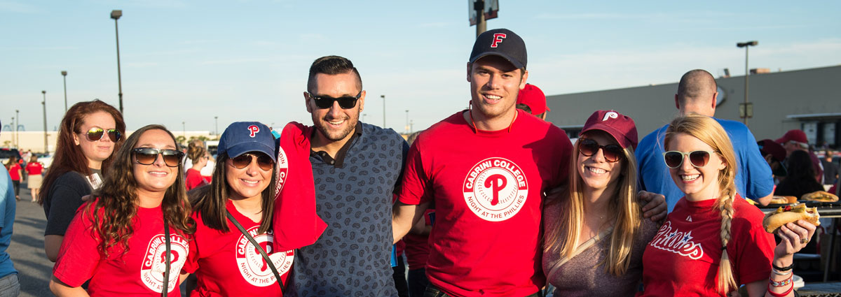 Cabrini alumni at Phillies Night
