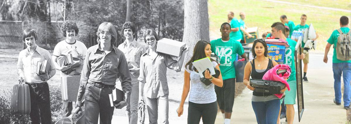 Cabrini students moving in, then and now