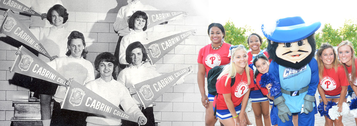 Cabrini cheerleaders, then and now