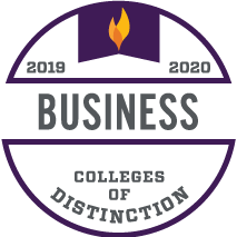 Business College of Distinction 2019-2020 award badge