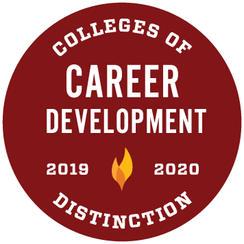 Career Development College of Distinction 2019-2020 award badge