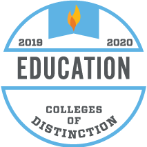 Education College of Distinction 2019-2020 award badge
