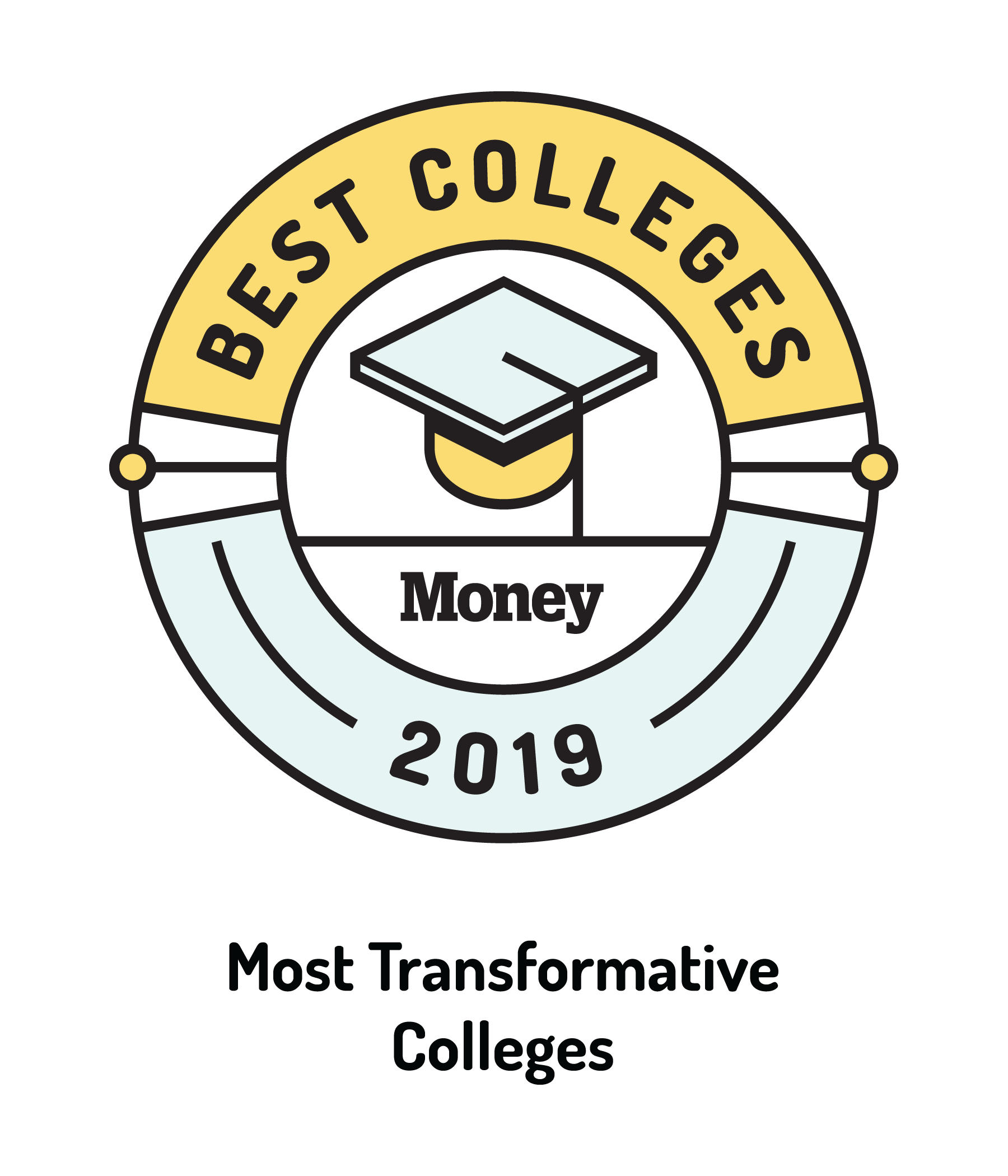 Money Magazine Most Transformative Colleges Badge 2019