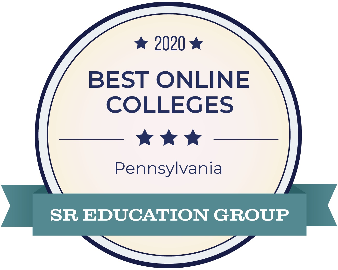 SR Education Group Award Badge for Cabrini Ranking Among 2020 Best Online Bachelor's Degrees in PA
