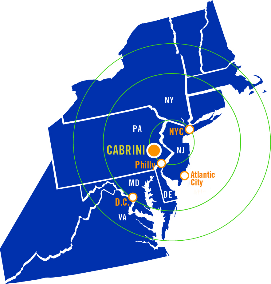 Map of NorthEast with Cabrini Location