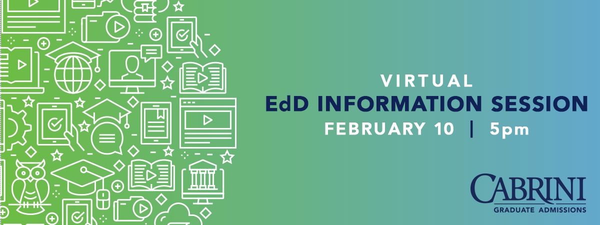 Virtual Info Session for EdD Wednesday, Feb. 10, 5pm