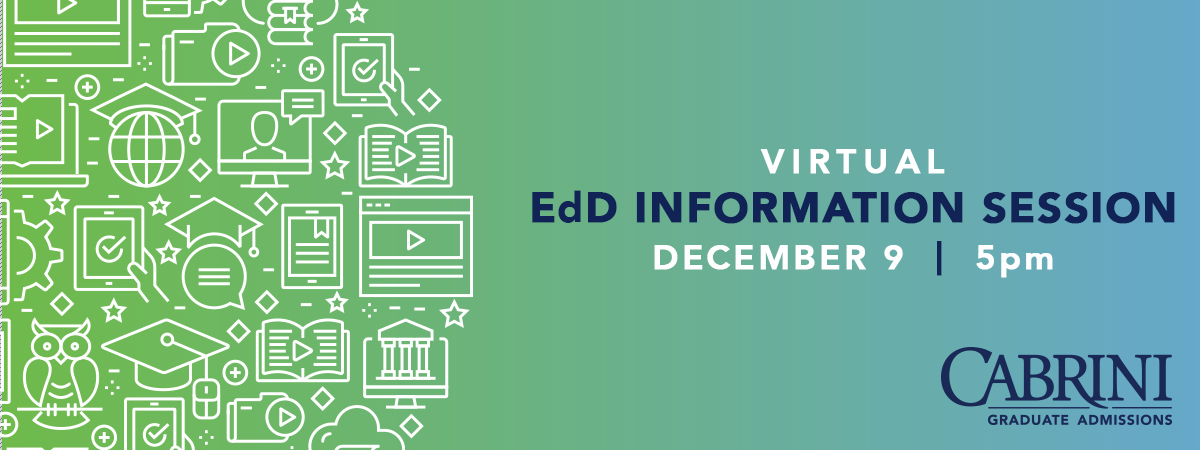 Virtual Info Session for EdD Wednesday, Dec. 9, 5pm
