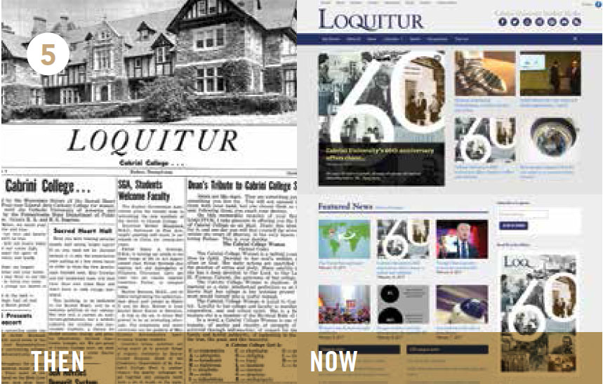 The First Issue Of Cabriniu0027s Student Newspaper, The Loquitur, Came Out On  Oct. 23, 1959, Featuring Cabriniu0027s Alma Mater, The Cabrini College School  Code, ...
